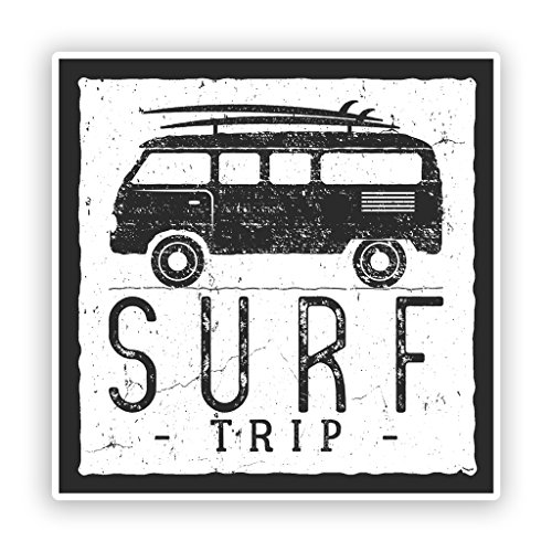 2 x 30cm/300mm Surf Trip Vinyl Stickers Travel Luggage #7616 (Best Surf Trip Destinations)