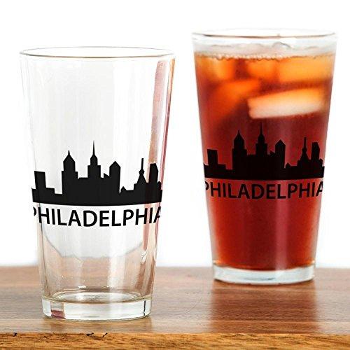 (CafePress Philadelphia Skyline Pint Glass Pint Glass, 16 oz. Drinking Glass)