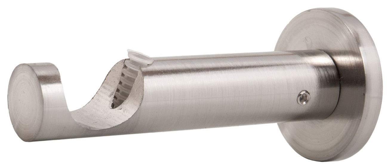 Träger Wandhalter für 20mm Gardinenstangen zweiläufig Edelstahl Optik NEU 12 cm