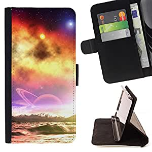 BullDog Case - FOR/Sony Xperia Z1 L39 / - / Sunset Beautiful Nature 39 /- Monedero de cuero de la PU Llevar cubierta de la caja con el ID Credit Card Slots Flip funda de cuer