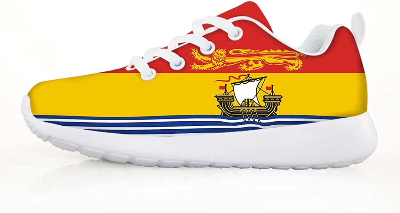 Owaheson Boys Girls Casual Lace-up Sneakers Running Shoes Maryland Flag