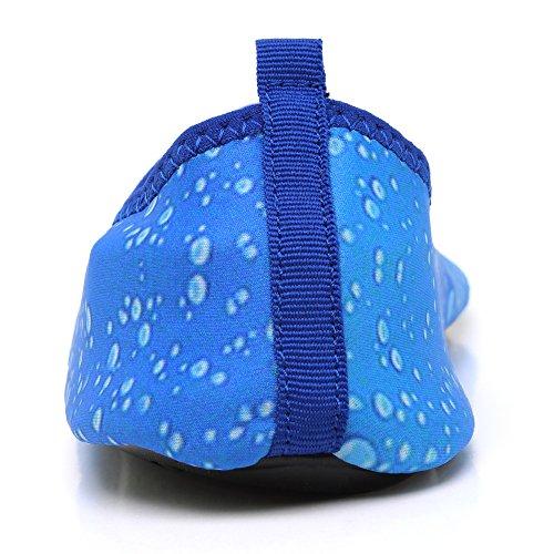 Schnell trocknende Aqua-Wasser-Schuhe Santiro Frauen-Männer für Strand-Pool-Brandungs-Yoga-Übung Blau 3