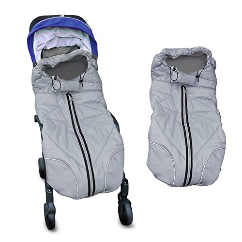 Waterproof Universal Baby Stroller Sleeping Bag Footmuff Sack Grey by Berocia Review