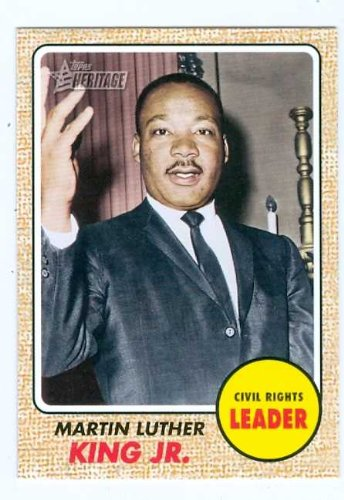 Martin Luther King Jr trading card 2009 Topps Heritage #51 Civil Rights Leader