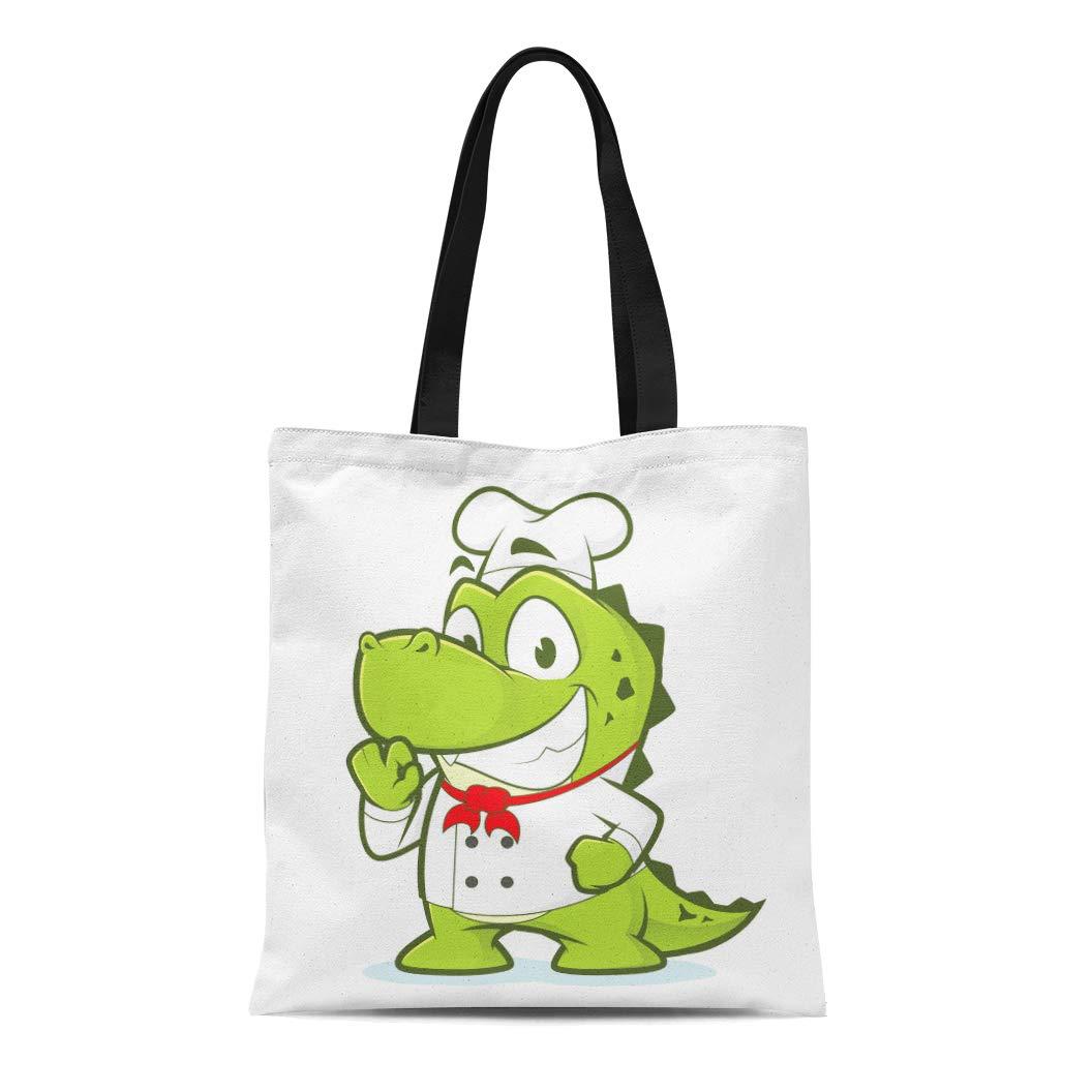 92eb043bf304 Amazon.com: Semtomn Canvas Tote Bag Shoulder Bags Baker Green Gator ...
