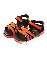 BININBOX Kids Summer Led Light Up Shoes Casual Sandals for Boys Girls