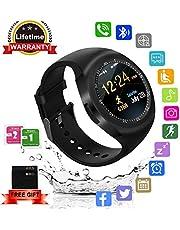 Kindak Smartwatch,Impermeable Reloj Inteligente Redondo con Sim Tarjeta Camara Whatsapp,BluetoothTactil Telefono Smart Watch Smartwatches para Android iOS Hombre Mujer Niño Niña