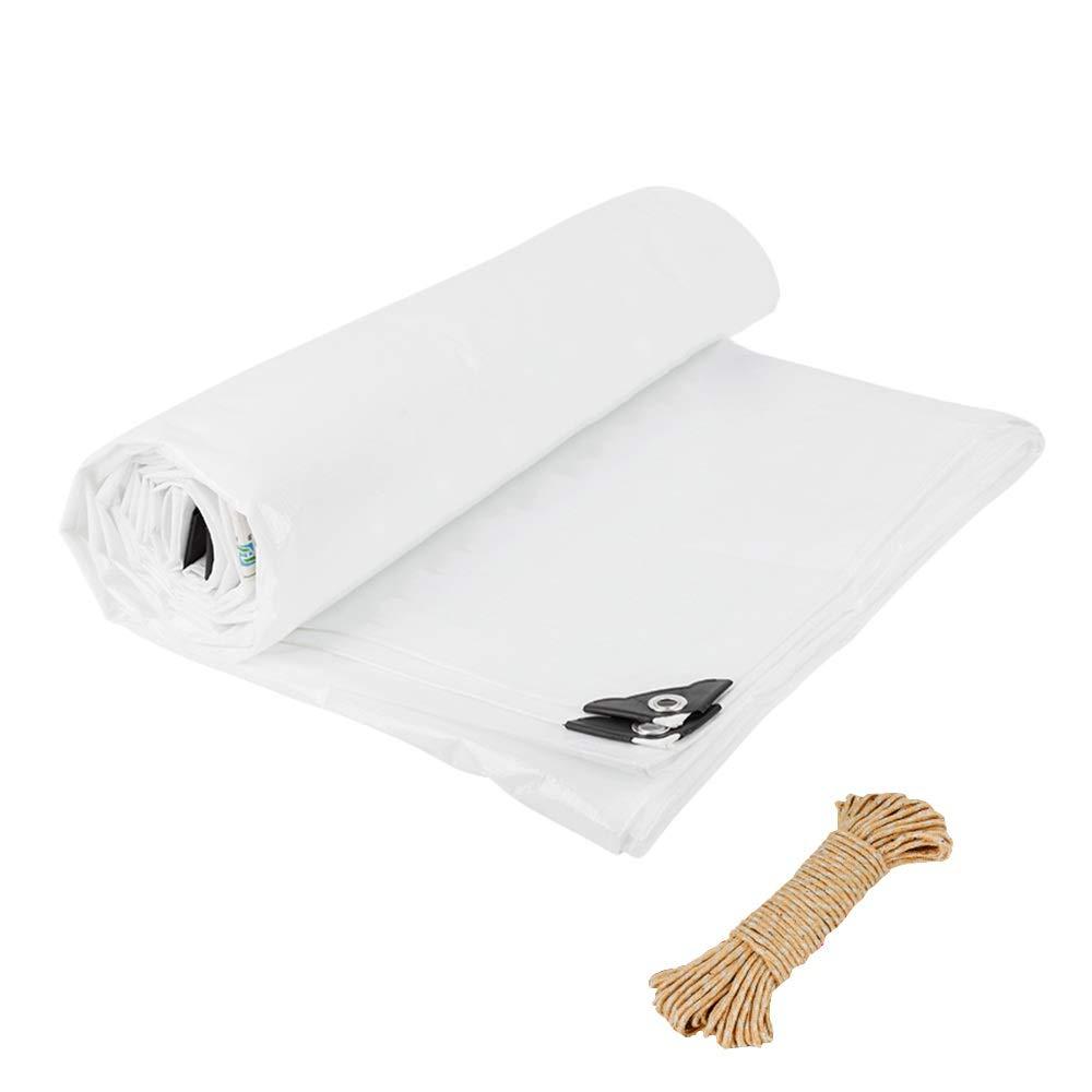 Schutzplane Weiß Transluzent Plane, Wasserdicht Regen Tuch Sonnenschutzplane Markise Plane Baldachin, Schuppen Tuch Plane mit Seil große Abmessungen