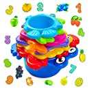 aGreatLife My First Stacking Cups: Best Educational Bath Toy for Kids - Fun and Brightly Colored Under the Sea Animals Bath Stacking Cups