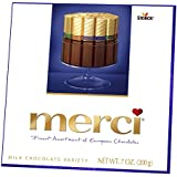 MERCI Milk Chocolate Variety, 7 Ounce Box (Pack of 10), Contains Four European Milk Chocolate Varieties, Chocolate Candy,  Assorted Candy and Sweets, Great Holiday Gift or Birthday Gift