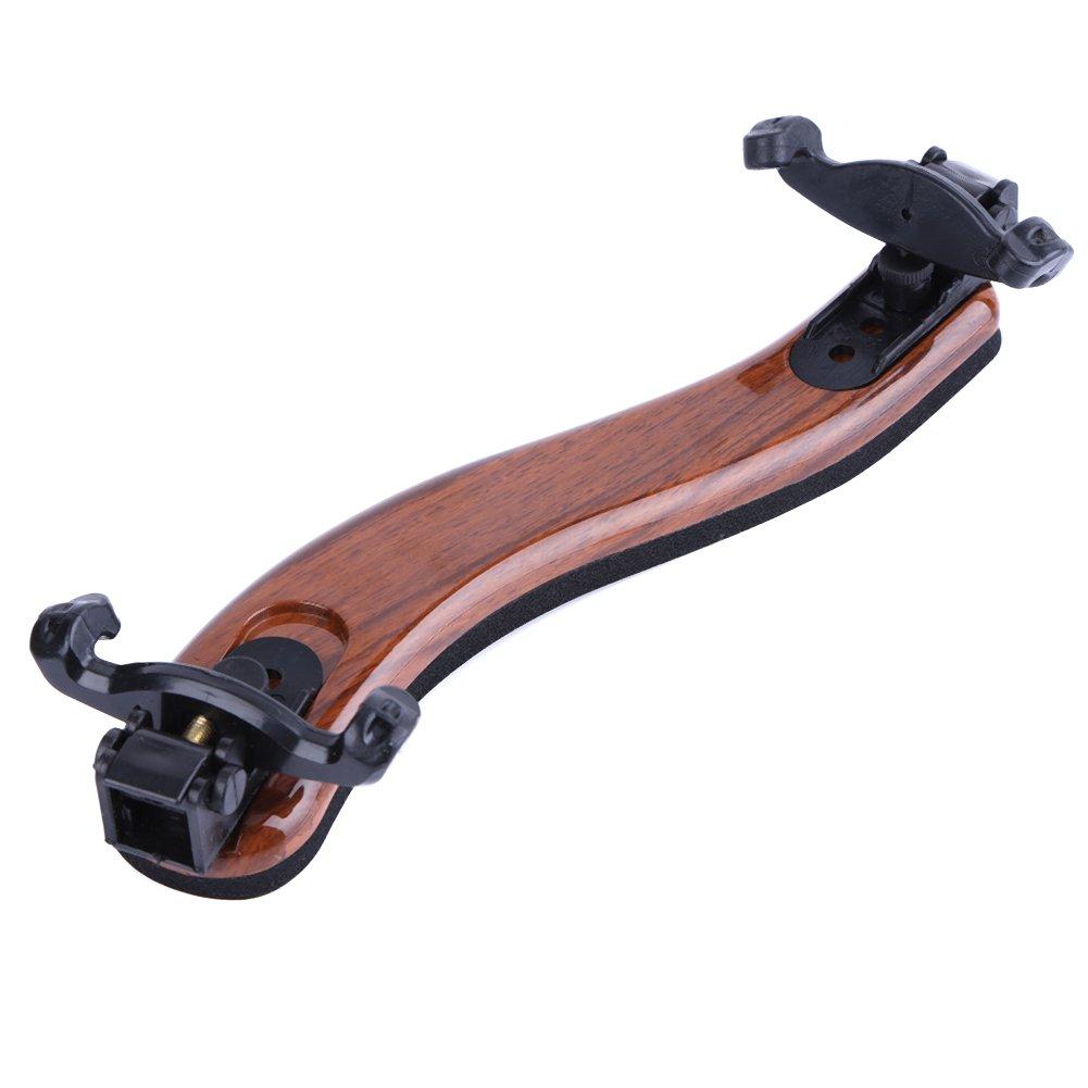 Domybest Violin Adjustable Shoulder Rest for 4/4 Full Size Instrument Accessory Adjustable Maple Wood Violin Shoulder Rest Support