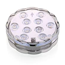 KITOSUN RGB Color Changing LED Tea Light, 2.8inch Waterproof Mini Light With Remote for under Vase Aquarium Glass lighting(Pack of 1)