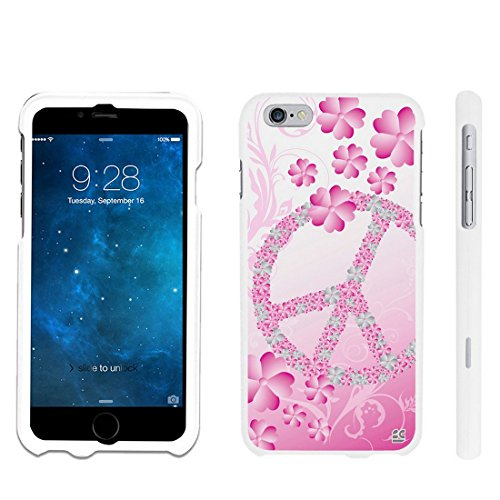 iPhone 6 Case, Spots8 Hard Plastic Slim Fit [Peace Signs of Flowers] Case Covers Compatible with iPhone 6 (AT&T/Verizon/Sprint/T-Mobile/Boost Mobile/US Celluar)