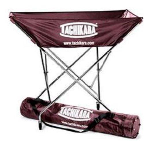 Tachikara Collapsible Hammock Ball Cart with Nylon Carry Bag, Cardinal