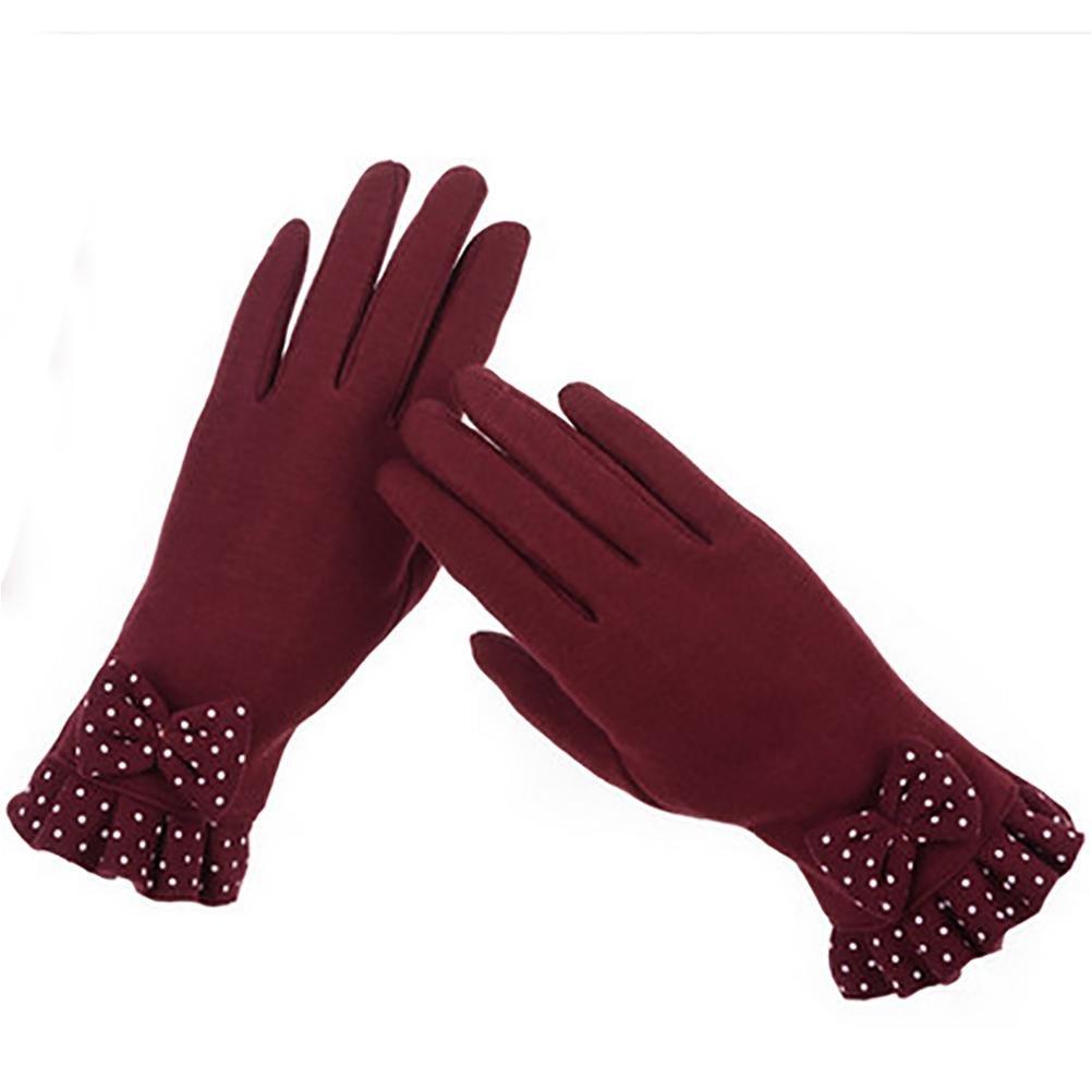 SALY Lindo arco, además de terciopelo guantes calientes guantes de ciclismo pueden tocar , red