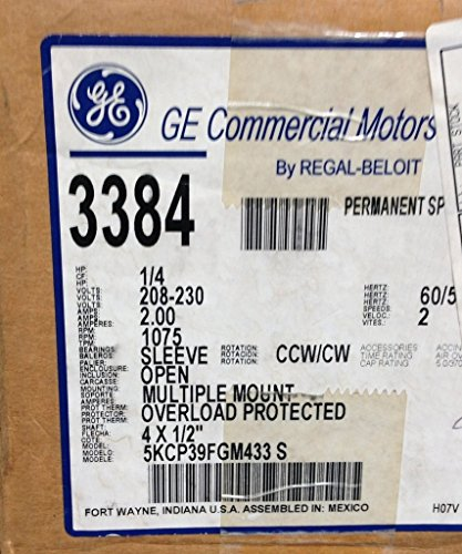General Electric Motors 3384 G E  Motor: Electronic