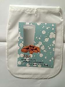 J & A High Quality Durable Reusable Nut Milk Bag