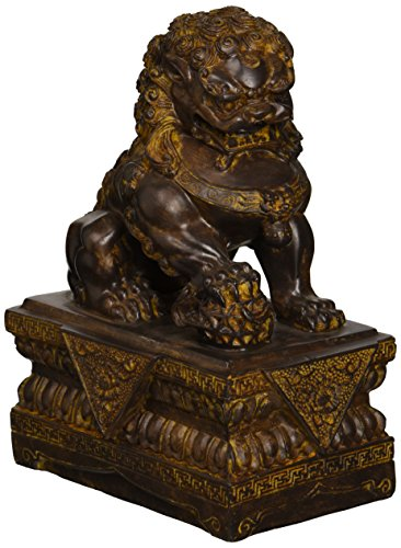 Design Toscano Chinese Guardian Male Lion Foo Dog Statue (Lion With Statue Ball)