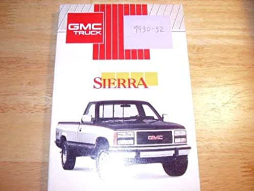 1991 gmc sierra pickup truck owners manual gmc amazon com books rh amazon com gmc sierra owners manual 2017 gmc truck owners manual replacement
