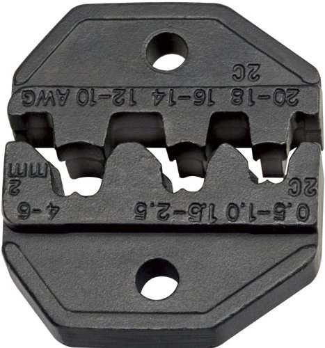 Wire Crimper Die, Terminal, Open Barrel, AWG 10-20, Replacement Die, Non Insulated Klein Tools VDV205-036