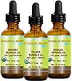 MORINGA OIL CERTIFIED ORGANIC. 100% Pure / Natural / Undiluted. 1 Fl.oz.- 30 ml. For Skin, Hair, Lip and Nail Care. by Botanical Beauty
