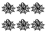 Juvale Halloween Napkin Rings - 6-Pack Black Spider Web Spooky Design Napkin Holder, Scary Costume Theme Party Supplies, Accessories, Lunch and Dinner Table Decoration