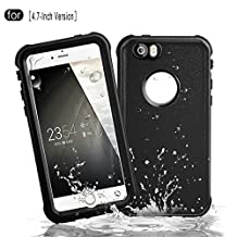 Redpepper Waterproof Case for iPhone 6/6s, Full Sealed Underwater Protective Cover, Shockproof, Snowproof and Dirtproof for Outdoor Sports - Diving, Swimming, Running, Skiing, Climbing (Black)