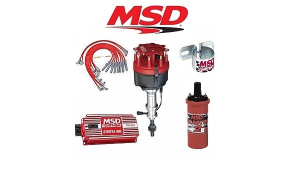 MSD 9015 - Kit de ignición - Digital 6 al Bobina de/distribuidor/Cables// - Soporte para Ford 351 W: Amazon.es: Coche y moto