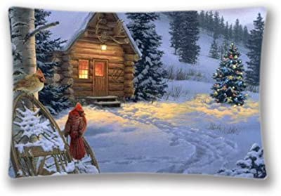Christmas Pillow Protector Covers Creative Design Rectangular King Size Pillow Case Cushion Cover 20X30
