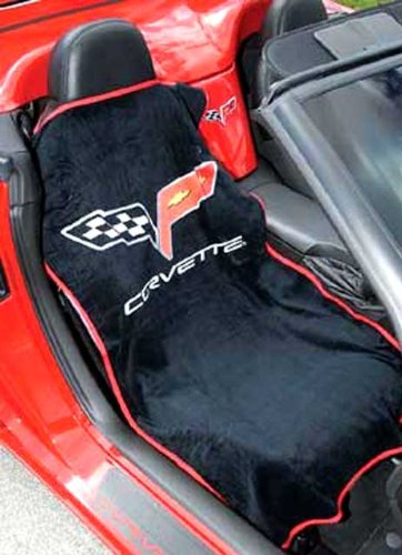 2005-2013 Corvette Black Seat Armour w/C6 Logo for sale  Delivered anywhere in USA