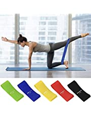 AMAYGA Fitness Elastic Bands (Set of 5),Fitness Resistance Bands with 5 Resistance Levels,Fitness Elastic Bands for Crossfit,Yoga,Pilates,Stretching,Strength Training