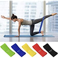AMAYGA Fitness Elastic Bands (Set of 5),Fitness Resistance Bands with 5 Resistance Levels,Fitness Elastic Bands for…