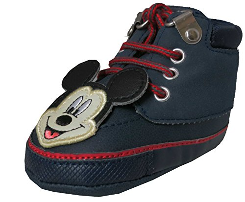 Disney Mickey Mouse Baby Boys Laced Navy Sneakers