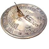 ANTIQUECOLLECTION Antique Solid Brass 'Old Father Time' Ornamental Sundial (200 mm Diameter)