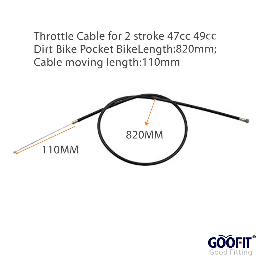 GOOFIT 32.28 Throttle Cable for 2 stroke 47cc 49cc Atv Quad Dirt Bike Pocket Bike Scooter