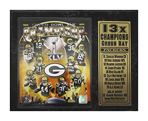 Green Bay Packers Plaque - Encore Select 521-13 NFL Green Bay Packers Champions Stat Plaque with Photo, 12-Inch by 15-Inch