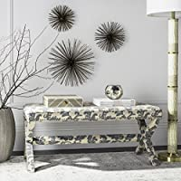 Safavieh Mercer Collection Melanie Bench, Slate and Beige