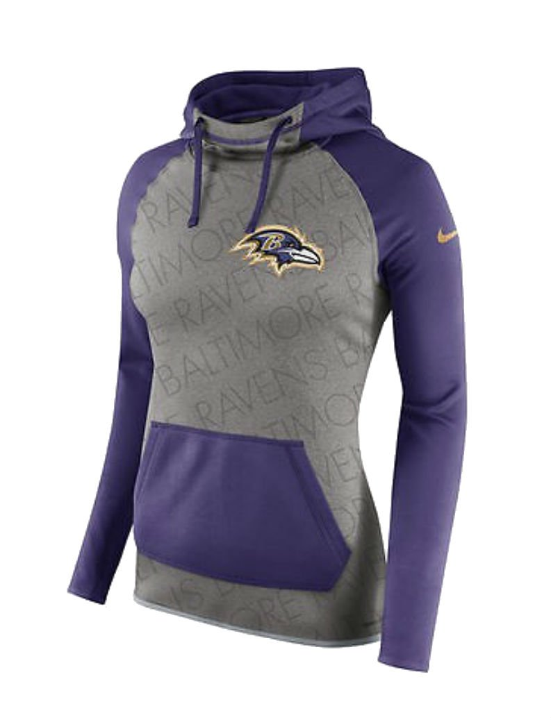 4b6346b15 Amazon.com   Nike Baltimore Ravens Women s 2X-Large 2XL Championship Drive  Hoodie Therma-Fit Sweatshirt - XXL Purple   Gray   Sports   Outdoors