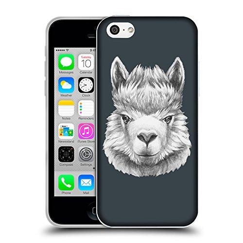 GoGoMobile Coque de Protection TPU Silicone Case pour // Q05380606 Portrait lama Arsenic // Apple iPhone 5C