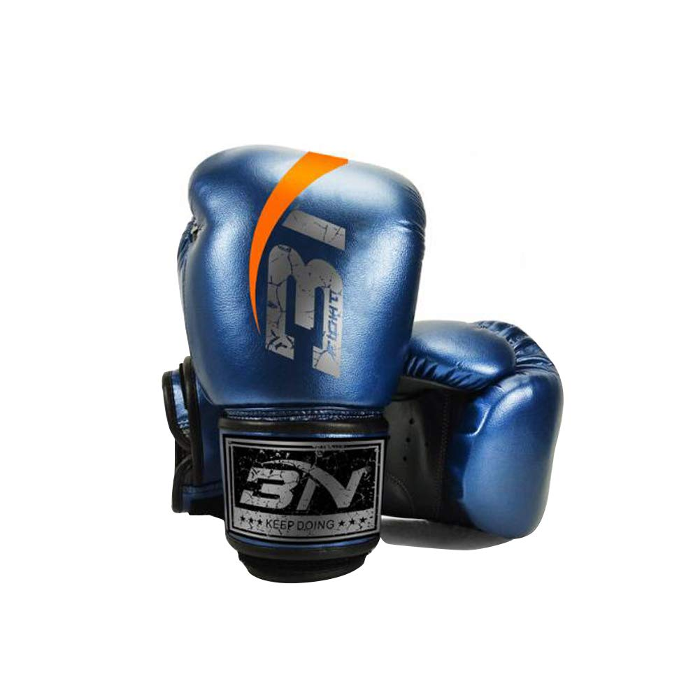 Boxing Gloves, Leather Infused Gel Training Gloves Sparring, Kickboxing, Punching Bag, Fighting, Mitts, Muay Thai, Sports & Outdoor Play Games YJIUJIU
