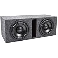 Skar Audio Dual 10 3000 Watt Dual 2 Ohm 1 Front Baffle Heavy Duty Loaded Vented Subwooofer Enclosure
