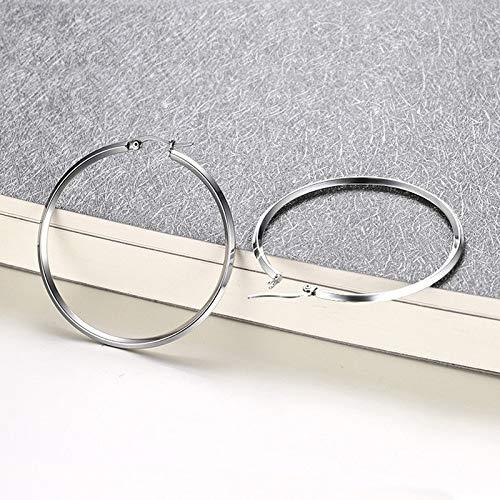 18K Gold Stainless Steel Big Hoop Earrings Exaggeration Hoop Earrings Women Girl