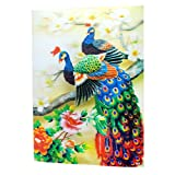 fengshuisale Feng Shui 3D Effect Plastic Picture Wall Hanging,Poster-Peacock W Free Red String Bracelet A2055