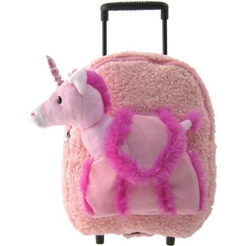 Pink Unicorn Rolling Backpack Amp Suitcase Free Activity