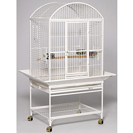 midwest homes for pets chiquita bird cage pearl white dometop