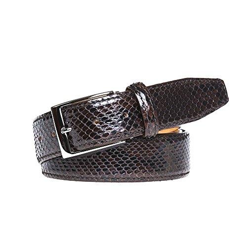 Brown Python Leather Belt by Roger Ximenez: Bespoke Maker of Fine Leather Goods