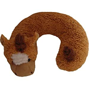 Amazon Com Adorable Children S Plush Animal Horse Neck Pillow Home Amp Kitchen