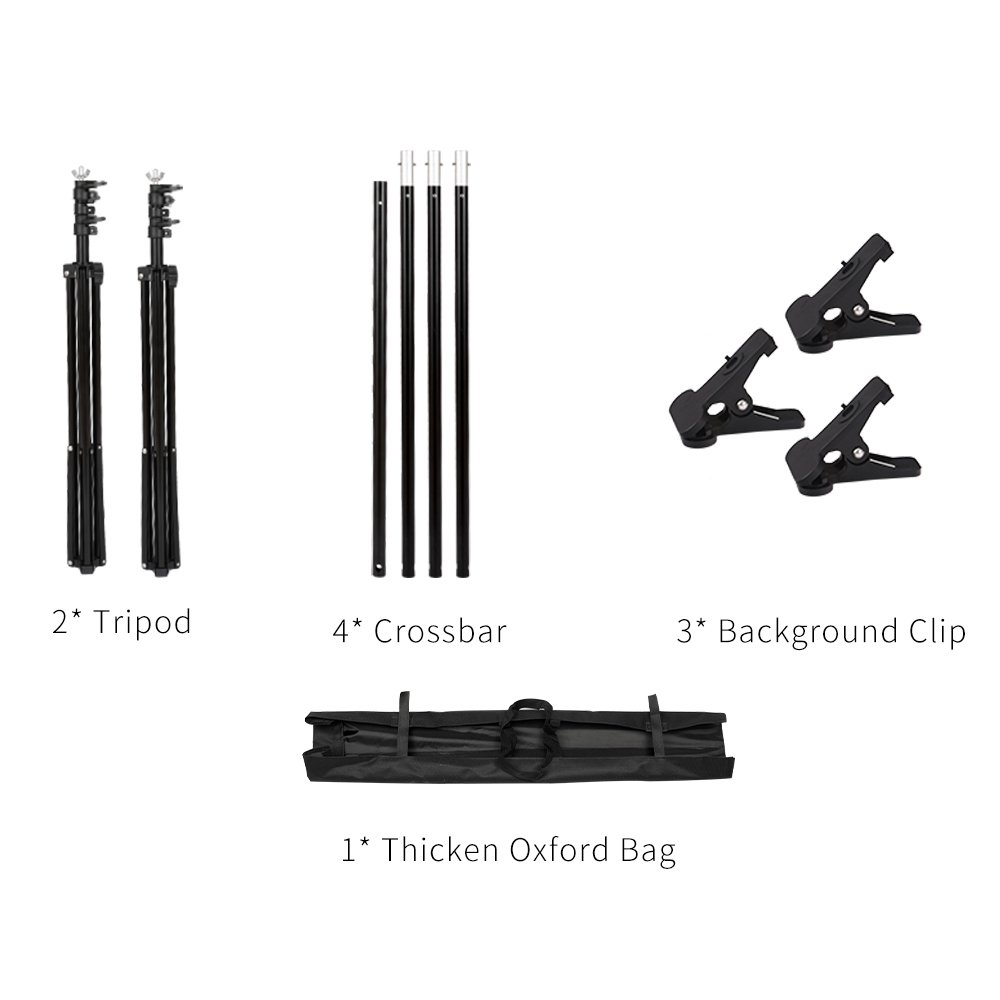 SH Background Stand, 6.5 x 10FT Heavy Duty Background Stand, 2x3M Backdrop Support System Kit with Carry Bag for Photography Photo Video Studio,Photography Studio by SH (Image #7)