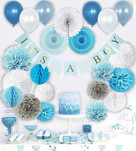 Baby Shower Decorations for Boy, Its a Boy Party Decor, Complete Kit for Boys Baby -