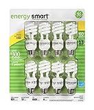 ge cfl light bulbs - GE 13-Watt Energy Smart Fluorescent Light Bulbs, 8 Pack, 60 Watt Replacement